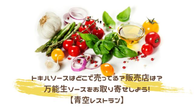 野菜やソース